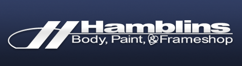 Hamblins Body, Paint, and Frame Logo